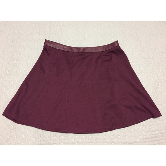 The Limited Dresses & Skirts - Burgundy Circle Skirt - The Limited